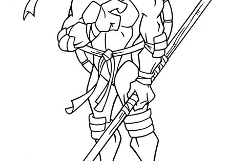 Donatello Coloring Pages Teenage Mutant Ninja Turtles