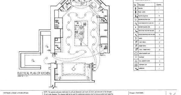 Residential Kitchen Design Electrical Plan Behance Dinakamaldesign Pinterest Electrical