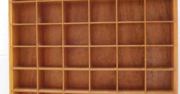 Vintage Wood Shadow Box Knick Knack Shelf Curio Display