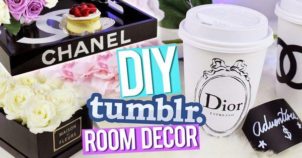 DIY Tumblr Room Decor ♥ Chanel Tray, Dior Piggy Bank