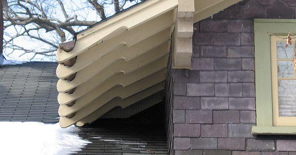 Craftsman Eave Gutter Craftsman Exterior Architecture Details