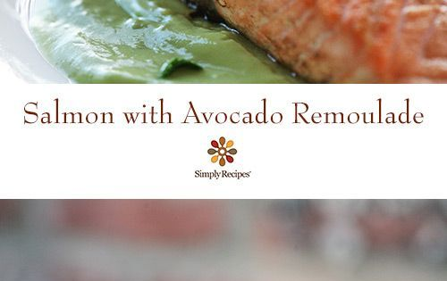"Pan seared salmon fillets with an avocado ""remoulade ..."