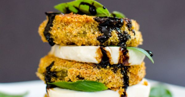 Fried Green Tomato Caprese by dianeabroad Green_Tomato Sounds Yummy!