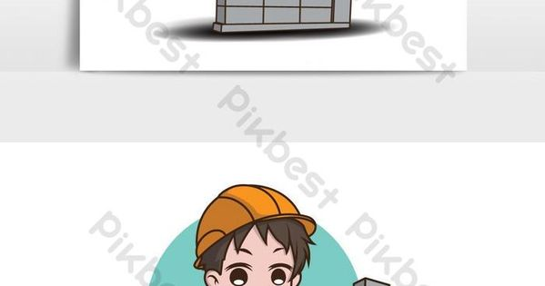 Lebih Dari 1 Juta Gratis Untuk Kreatif Oleh Pikbest Worker Cartoon Cartoon Graphic Element