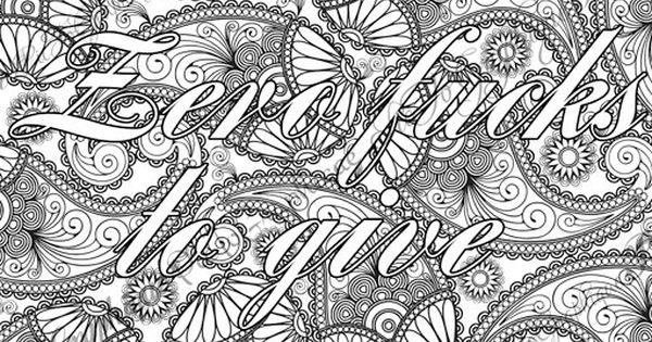 Coloring Page The swearing words