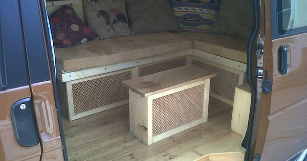 Retro paint steel wheels and a reclaimed wooden interior for Vw t4 interior designs