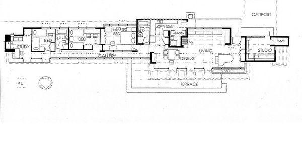 Eric And Pat Pratt House Plan Frank Lloyd Wright
