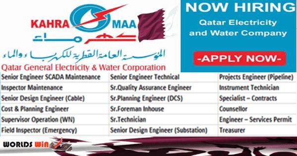 Jobs At Qatar Kahramaa Submit Now Job Renewable Energy Find A Job