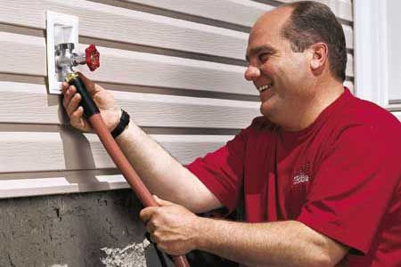 How To Install A Freezeproof Faucet Outdoor Faucet Repair Cozy