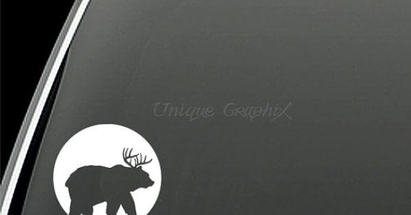 Jeep deer plus bear equals beer hunting vinyl decal window for 1 plus 1 equals window