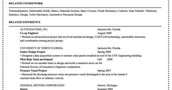 Sample Entry Level Automotive Engineering Resume Http