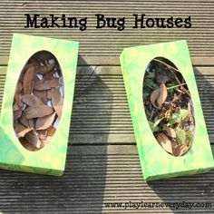Making Bug Houses | Business for kids, Forest school activities