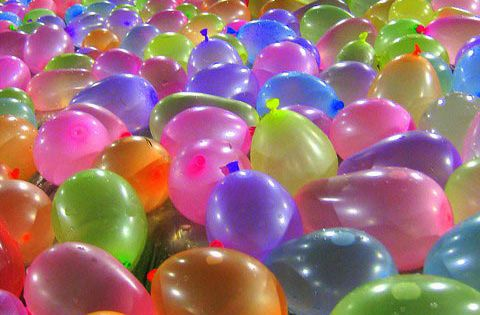 Water balloon slip and slide. kid birthday party ideas!