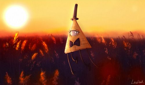 Want To Go Away Into The Field Where I Can See The Sun Goes Down From Sky And I Feel Warm And Peace With So Gravity Falls Bill Gravity Falls Gravity