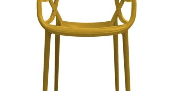 Chaise masters jaune moutarde for Chaise eames jaune moutarde