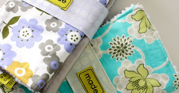 DIY burp cloths - gift idea!