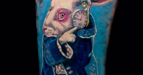 White rabbit /. Alice in wonderland tattoo | photography ...
