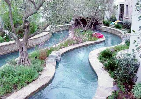 Backyard Lazy River Creative Images Design Inspiration