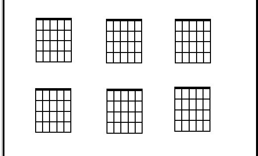 blank guitar chord chart  print it out and fill it in with