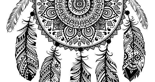 mandalas attrape reve indien id e pour mes tatouages pinterest dessins mandalas et. Black Bedroom Furniture Sets. Home Design Ideas