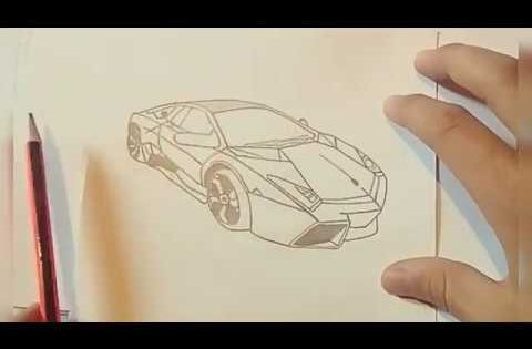 How To Draw Lamborghini Youtube Drawings Peace Gesture Draw