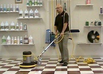 Floor Buffer Scrubbing Cleaning Ceramic Tiles Ceramic Floor Tiles Flooring