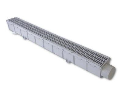 Nds 3 In Plastic Channel Drain Kit 764 House On The Rock French Drain Installation French Drain