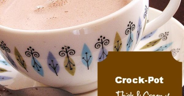 Crock pot hot chocolate for MNI- tempted to do a trial run...