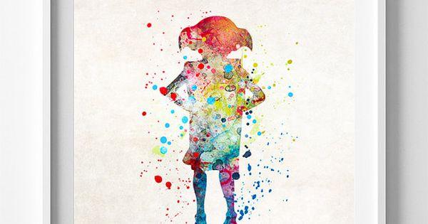 Dobby Poster Dobby Art Harry Potter Art Watercolor Art