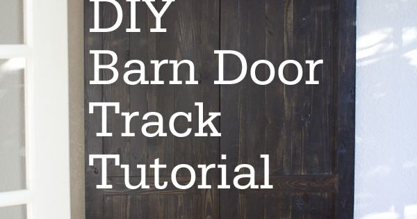 Finally! A DIY Barn Door Track that is inexpensive! Don't know where