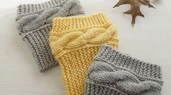 Boot socks pattern Boho Knits - Boot Cuffs, leg warmers PDF Knitting Pattern ...