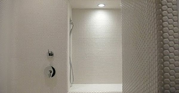 Penny Tiles And Outside Corners Fine Homebuilding Breaktime Penny Tile Penny Tiles Bathroom Tiles