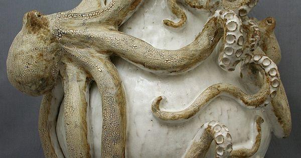 Octopus Vase Giant Double Ceramic Sculpture Beach Decor Coastal Home Decor Nautical Decor