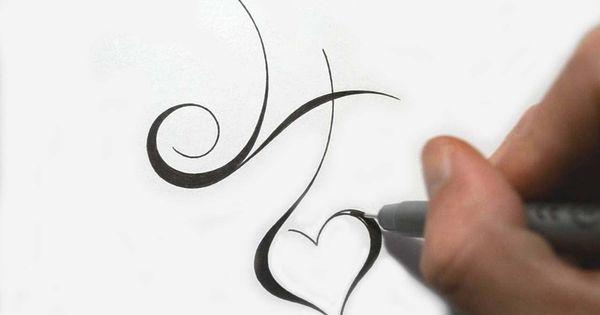 Designing Simple Initial H Tattoo Design Calligraphy Style H Tattoo Initial Tattoo Tattoo Lettering