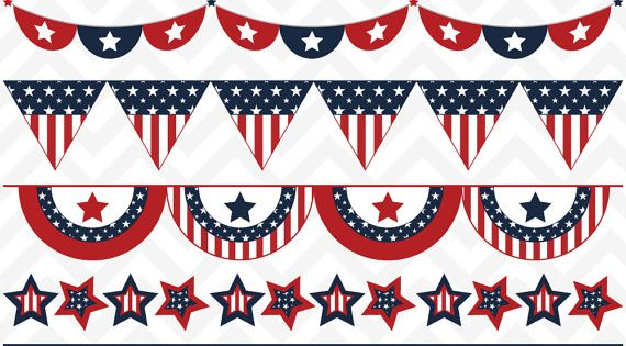 fourth of july flags clip art