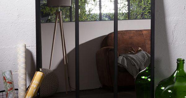 miroir atelier xl en m tal rectangulaire decoclico factory. Black Bedroom Furniture Sets. Home Design Ideas