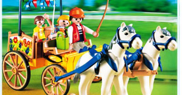 Set 4186 | Playmobil, Pferdekutsche, Pferde