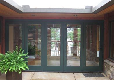 Breezeway With Doors Closed But To Make This Idea Work Without Letting All The Bugs In Required The Clever Appli Cottage Exterior Breezeway Rancher House Plans