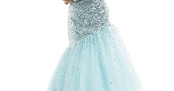 strapless ombre prom dress by flirt
