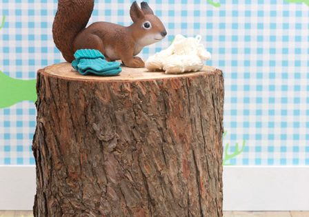 fun nursery decor tree trunk table on wheels