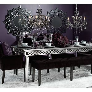 Mirrored Dining Table Sophie Collection Z Gallerie Elegant