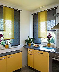 Kurze Schiebevorhänge Schiebegardine Küchendekoration Und