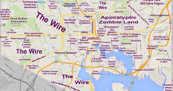 Judgmental Baltimore Map  Baltimore  Pinterest