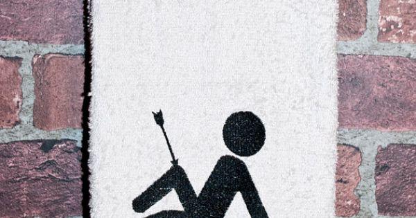 skyrim geek video game gift arrow to the knee bathroom
