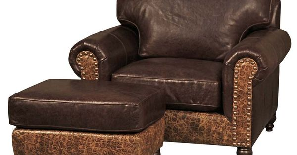 Boone Western Leather Club Chair Western Accent Chairs