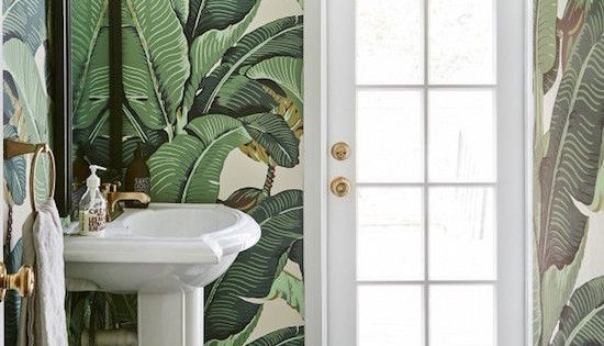Beautiful Martinique Wallpapered Bathroom Inspire