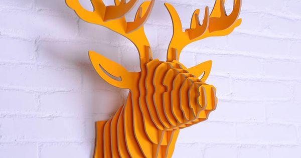 t te d 39 animal en bois mur pendaison t te de cerf d coration murale artisanat en bois sculpt. Black Bedroom Furniture Sets. Home Design Ideas