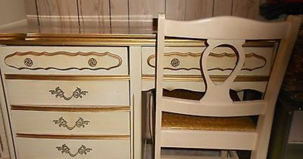 Details about Bassett French Provincial Vintage Complete ...