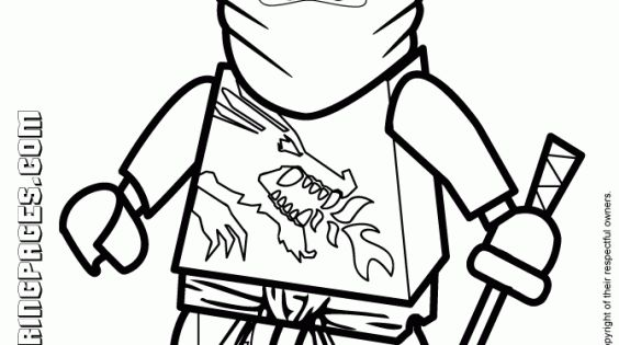 Kai The Red Ninja In Lego Ninjago Coloring Pages Fun