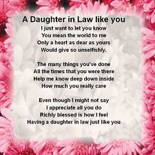 Poems About Daughter in Law | Mother In Law Poems From ...